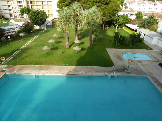 Hotel San Fermin: Vistas desde la terraza de la habitación
