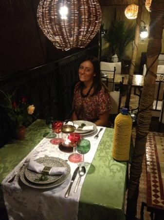Evening meal at Riad Andalla