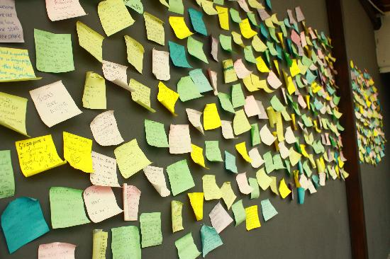 @ Little Red Dot: The post-it wall where you can leave your testimonial