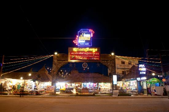 Main gate of Angkor Night Market