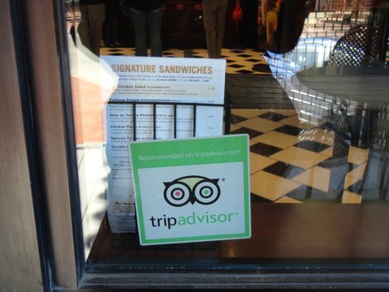Corner Bakery Cafe: TripAdvisor decal