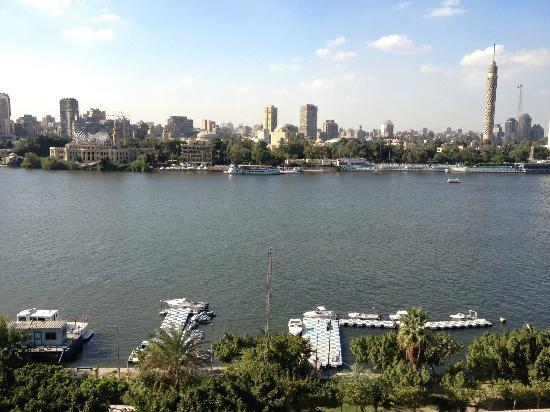 Kempinski Nile Hotel Cairo : View from Room Balcony (7th Floor)