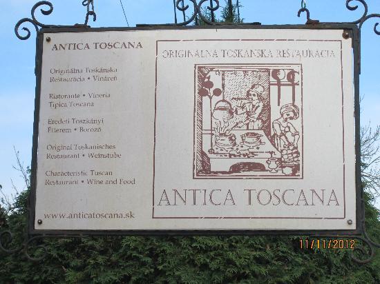 Antica Toscana : L'immagine, un buon inizio!!