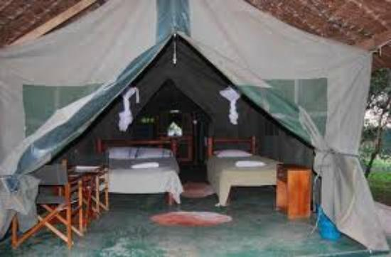 One of the tents in Miti Mingi eco camp