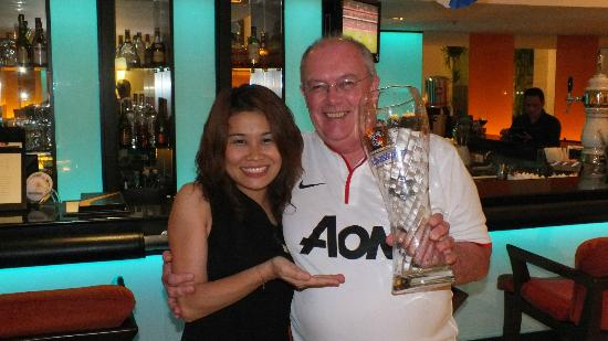 Rembrandt Hotel Bangkok: one of the gorgeous girls at the bar