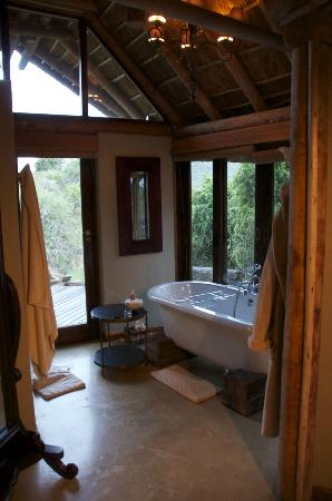 ‪‪Kwandwe Great Fish River Lodge‬: The bathtub, Room 9