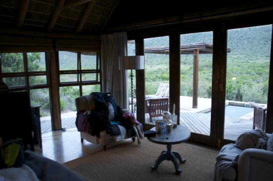 Kwandwe Great Fish River Lodge: The view from the lounge area, Room 9