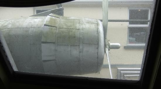 Foynes Flying Boat Museum: Looking out of the port-side window.