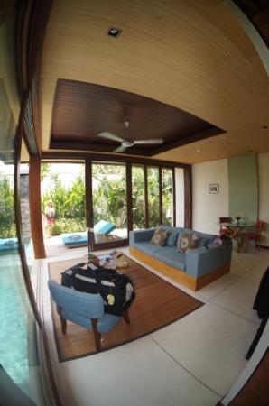 Maca Villas & Spa : Wohnzimmer