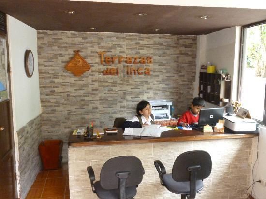 Terrazas del Inca bed and breakfast Hostal: Front Desk de Terrazas del Inca