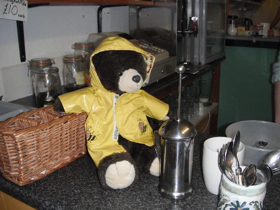 Bilbo's Cafe: Dale the bear was welcomed here!