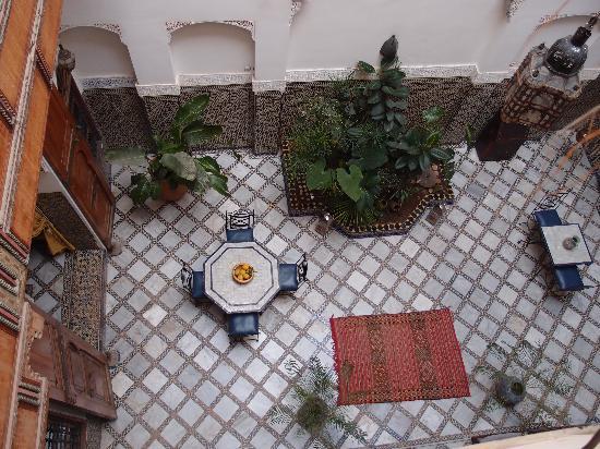 Riad Laayoun: le patio vu du 1er étage