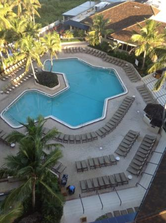 Hilton Marco Island Beach Resort--CLOSED FOR RENOVATIONS; REOPENING DEC. 1, 2017: pool from balcony