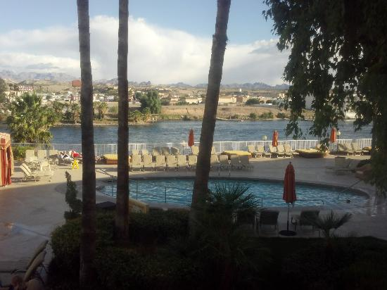 Golden Nugget Laughlin: view of pool/river from our room