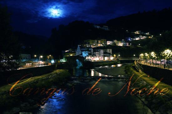 Hotel Peña Grande: La villa de Cangas del Narcea de noche