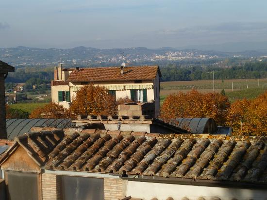 Hotel Le Tre Vaselle : View from Room 11--Assisi in distance