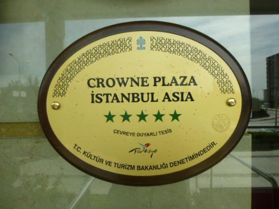 Crowne Plaza Istanbul Asia: the hotel logo
