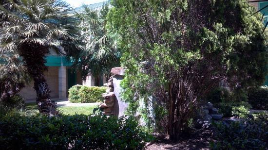 BEST WESTERN Ingram Park Inn: Scenery outside of our room facing courtyard.