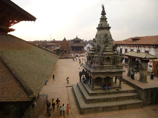 Shiva Guest House1 & 2: Vue sur Durbar Square