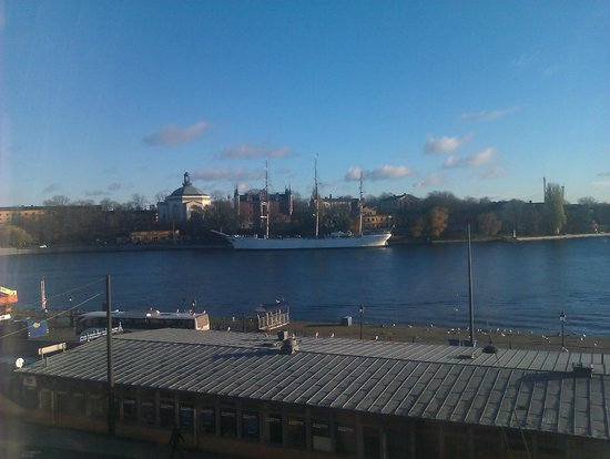 Hotel Gamla Stan: View from double (but beds can be pushed apart) room 201