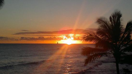 Sheraton Kauai Resort: Sonnenuntergang vom Balkon