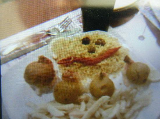 Fall River Grill: Stuffed Shrimp (took pic of pic on phone)