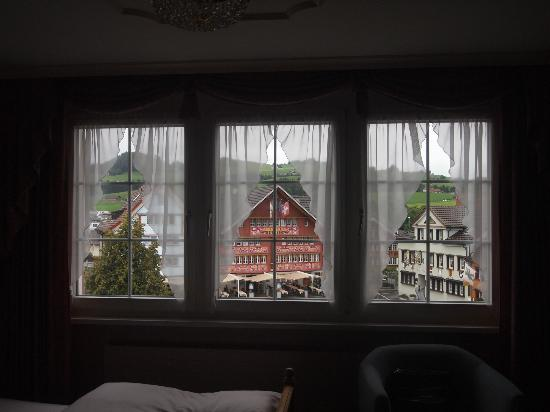 Hotel Appenzell: View from my room