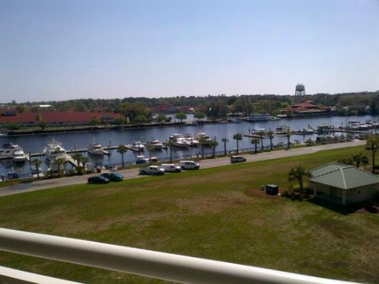 Barefoot Resort: This is the vew from our condo at BF Yacht Club Villa