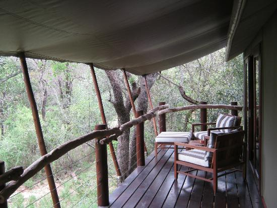 Kapama Buffalo Camp: room ( = tent ) terrace