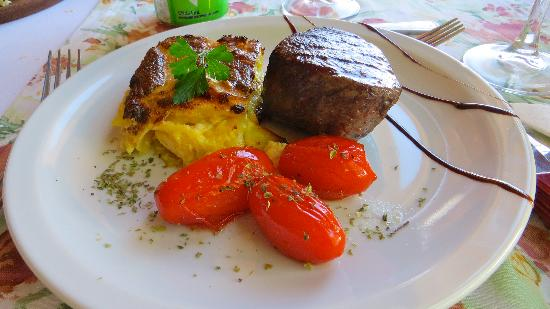 Aguas Arriba Lodge: el bife de lomo