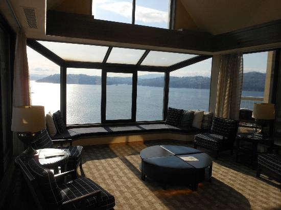 The Coeur d'Alene Resort: View from the 18th floor penthouse.