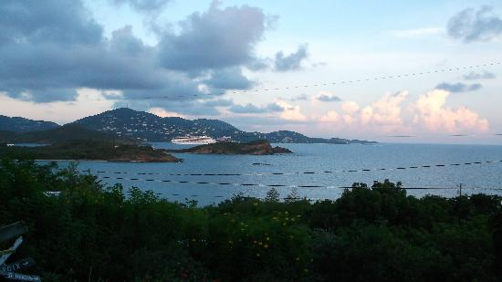 Virgin Islands Campground: sunset from pavilion