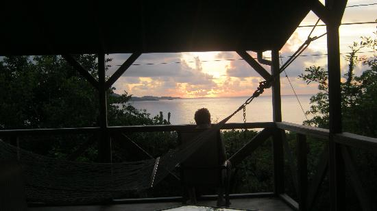 Virgin Islands Campground: sunrise from hammock pavilion