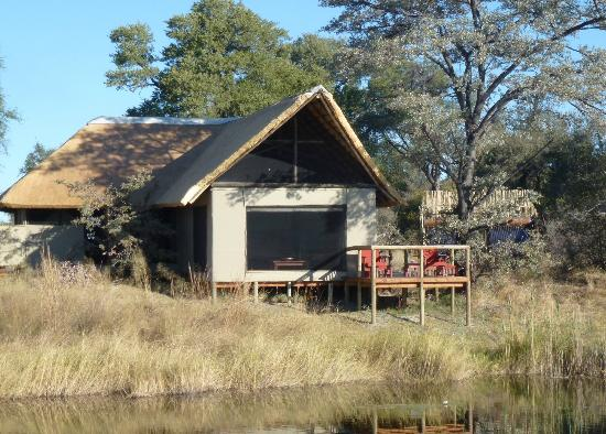 Lagoon Camp - Kwando Safaris: view of our tent from the river