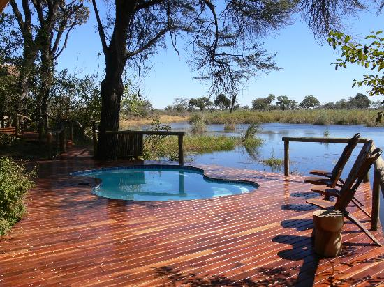 Lagoon Camp - Kwando Safaris: view of pool and river