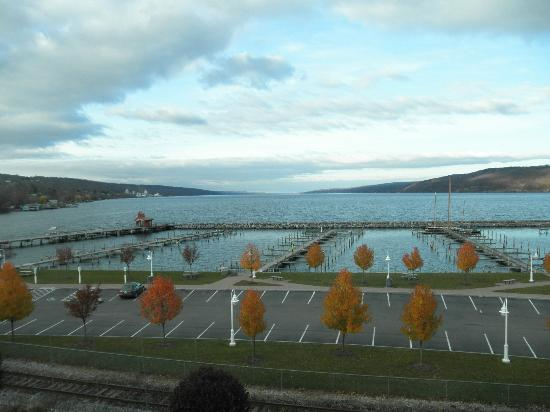 Watkins Glen Harbor Hotel: View from our window (3rd floor, north side of hotel)