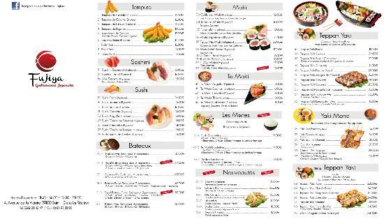 Tarif Restaurant Chinois