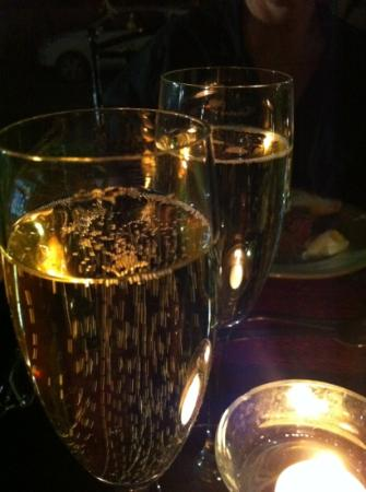 bubbels in the moonlight at olive grove