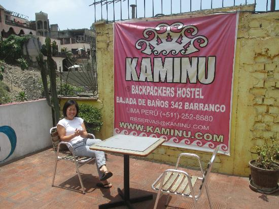 Kaminu backpackers Hostels: Roof terrace