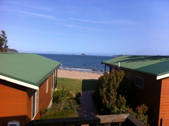BIG4 Batemans Bay at Easts Riverside Holiday Park: view out to sea from verandah