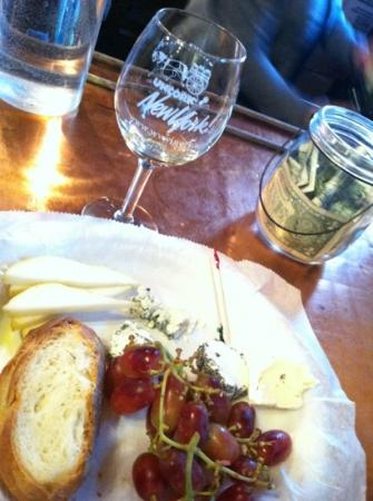 Warwick Valley Winery: wine tasting and a cheese plate. perfect afternoon