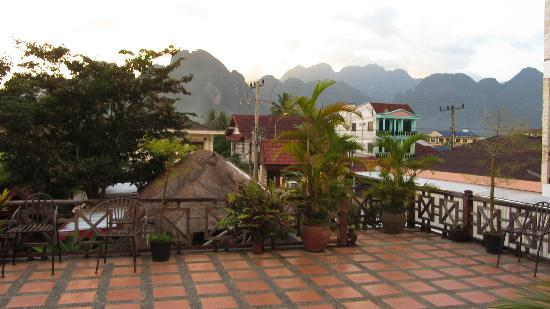 Inthira Vang Vieng: view from hotel