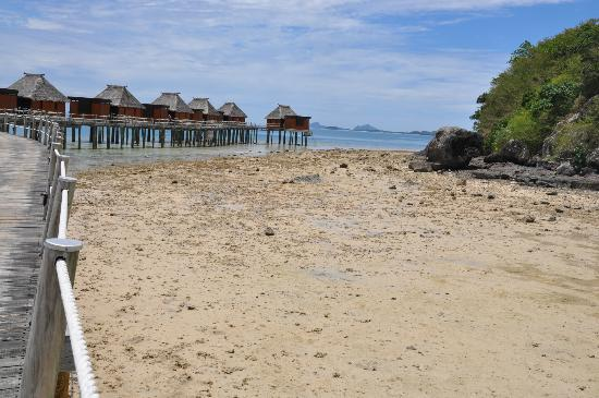 Likuliku Lagoon Resort: Low tide lagoon