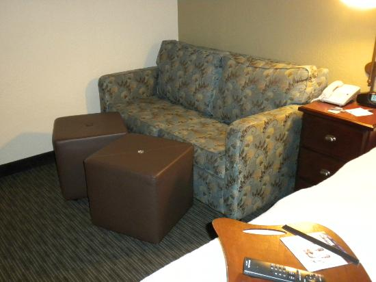 Hampton Inn Gastonia: Nice to have a couch in the room.