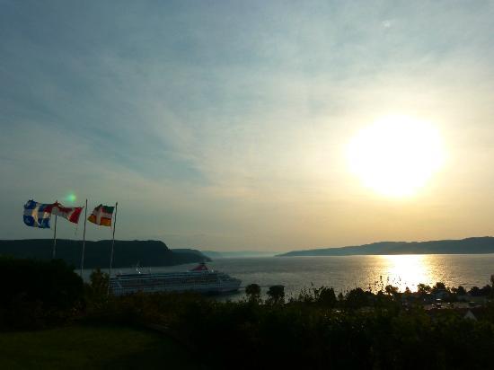 Au fil des saisons : vue depuis la terrasse le matin
