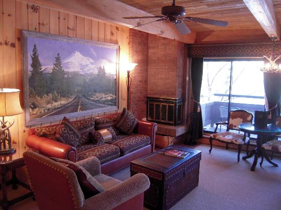 Aspen Square Condominium Hotel: Fireplace Studio