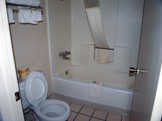 Travelodge Holbrook: Tub & Shower combo in separate room with toilet.