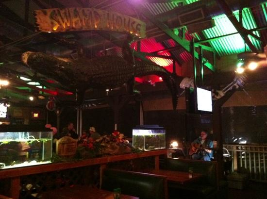 Swamp House Riverfront Grill: Live Music on Saturday night!