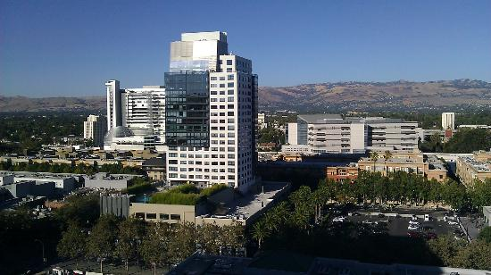 The Fairmont San Jose: Looking east from my room.