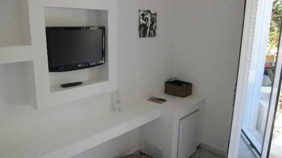 Geranium Residence: TV and fridge